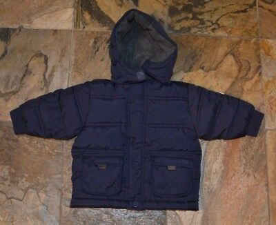 Infant Boys' BABY GAP Navy Blue Down Jacket Coat Size 6-12 Months