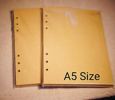 A5 Size Printed Blank Kraft Planner Inserts for Filofax Agenda 30-32 Sheets