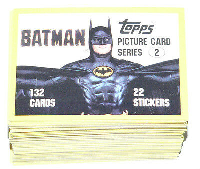 1989 Topps BATMAN MOVIE series 2 - 132 cards, no stickers