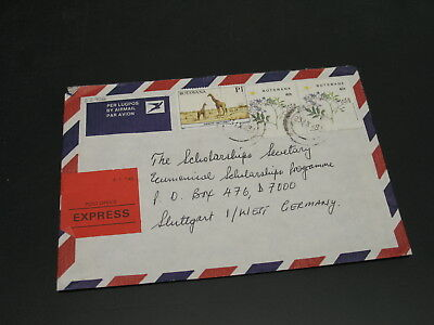 Botswana 1988 expres airmail cover to Germany *22726