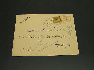 Tunisia 1925 cover to Czechoslovakia *22311