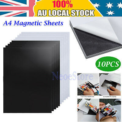 1.0mm A4 Magnet Sheets Magnetic Self Adhesive 5pc Singal Side+ 5pc Doble Side AU