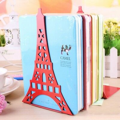 NEW Novelty Eiffel Tower Bookends 1 Pair Metal Book Stands Hot Sale