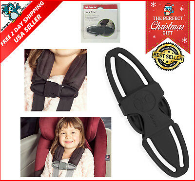 Lock Tite Harness Chest Clip Baby Car Seat Strap Latch Kids Safety Silver