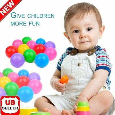 100pcs Kid Baby Soft Play Balls Toy for Ball Pit Swim Pit Ball Pool Colorful  HP