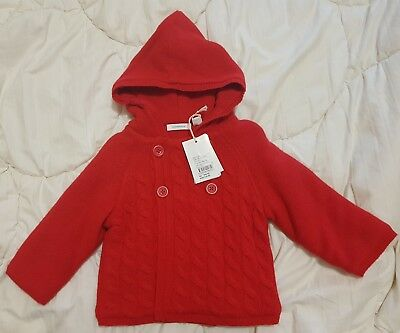 Country Road Red Cable Knit Coat Bnwt