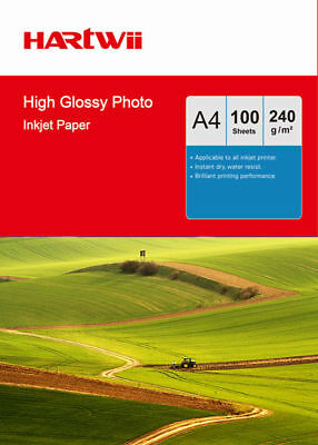 100 Sheets A4 230Gsm High Glossy Photo Paper For Inkjet Paper Printing Hartwii
