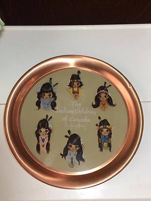 Vintage The Indian children of Canada by Christoffersen serving tray