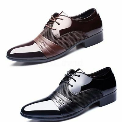Men's Leather Formal Office Work Smart Shoes Casual Pointed Toe Wedding Shoes #l
