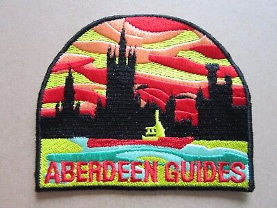 Aberdeen Guides Girl Guides Cloth Patch Badge (L4K)