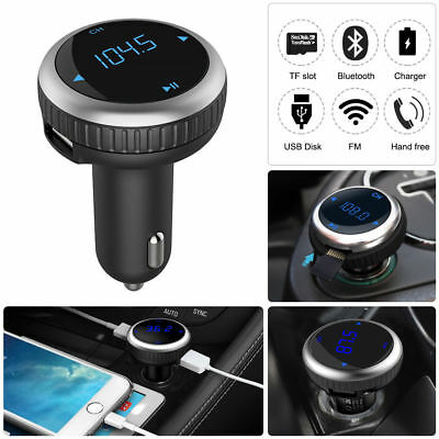 LED Wireless Bluetooth Cargador Transmisor FM Radio  Cuchilla MP3  USB de Coche