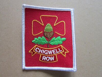 Chigwell Row Girl Guides Cloth Patch Badge (L4K)