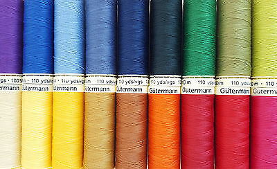Gutermann Sew All Thread 100m & 500m & 1000m - Various Colours