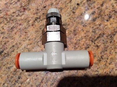 SMC AS2051F-07-3 Air Flow Control Valve with Push-to-Connect Fitting