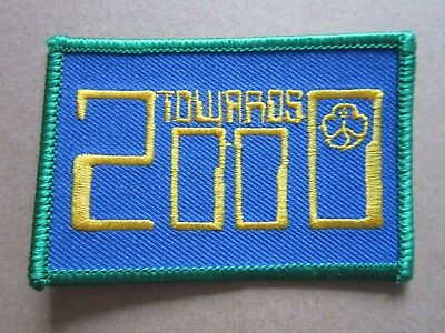 Towards 2000 Girl Guides Cloth Patch Badge (L4K)