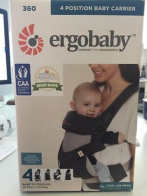 Ergobaby 360 Cool Air Carrier - Carbon Grey - NEW