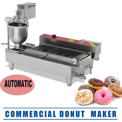 Commercial Electric Automatic Doughnut Donut Machine Donut Maker W/3 Size USA
