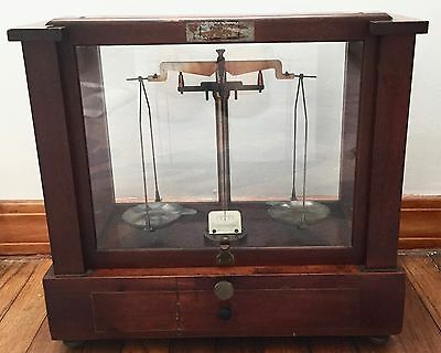 Antique Apothecary Balance Scale Seederer-Kohlbusch Pharmaceutical Sca