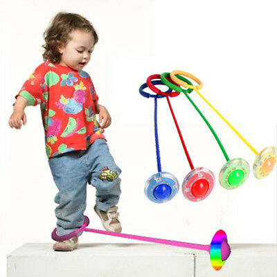 BU_ Flash Kids Jump Ball Outdoor Sports Foot Skip Exercise Child Toy Toys Gift C