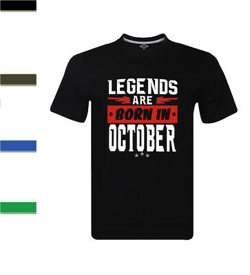 Legends Are Born In October Libra Scorpio Zodiac Men's T-Shirt Birthday Gift
