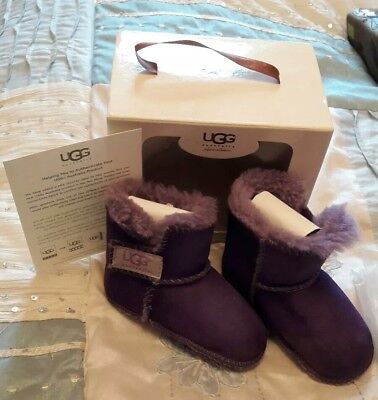 Ugg baby booties **purple**