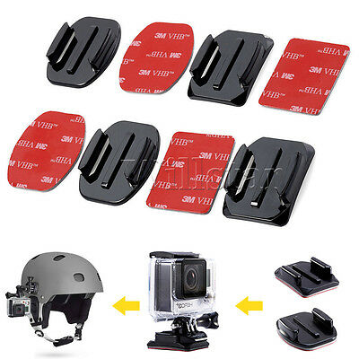 UK 4 Pcs 3M Adhesive Pads Mounts Curved For Gopro Camera Accessory Hero Sticky