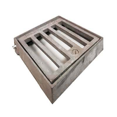 Glen Castings Square Galvanised Gully Grate with Locking Screw - 150x150mm
