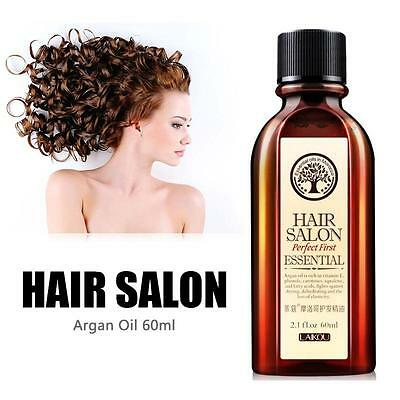 100% Pure 60ml Argan Oil Hair Care Nourish Scalp Smooth Damaged Dry Repair Hot
