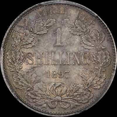 South Africa 1897 Silver Shilling KM#7 Choice Unc PCGS MS63