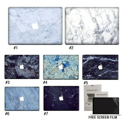 """Marble Vinyl Decal Laptop Sticker Skin Notebook Cover For Macbook 11""""13""""15"""""""