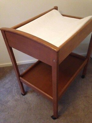 Baby Change Table Timber Ec With Some Accessories