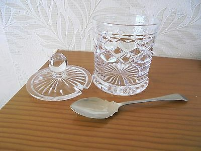 Lovely Glass Preserve Pot and Spoon