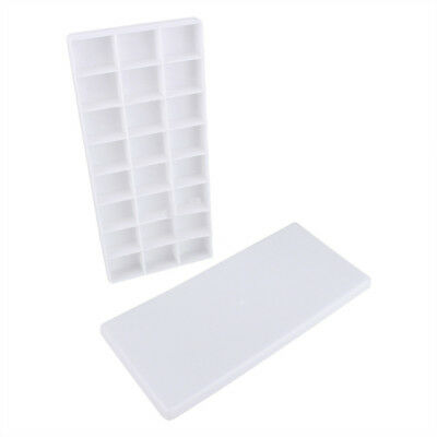 Plastic 24 Compartments Watercolor Drawing Painting Tray Mixing Palette White