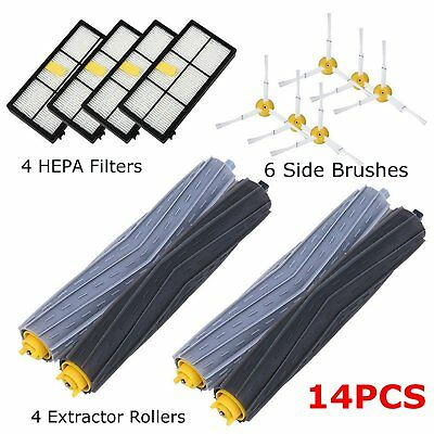 14 PCS Accessories for iRobot Roomba 800 870 880 900 980 Parts Spare Brushes Kit