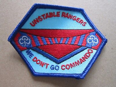 Unstable Rangers Girl Guides Cloth Patch Badge (L4K)