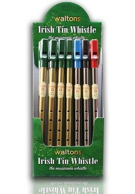 Tin Whistle D Brass Nickel Key D Loose Irish Waltons Children Begginer Top Color