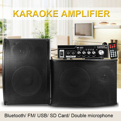 Bluetooth Amplifier Speaker SD USB FM Radio With Remote Controller Home Theater