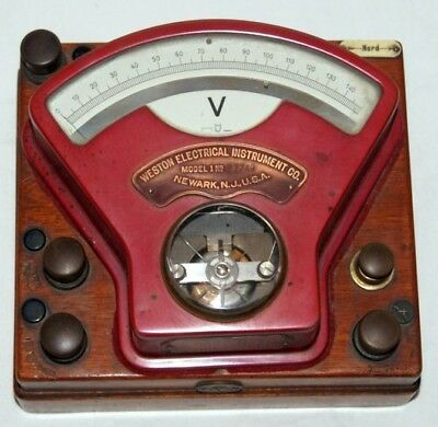 Antiker Weston Electrical Instrument Company / Model 1 Voltmeter um 1880