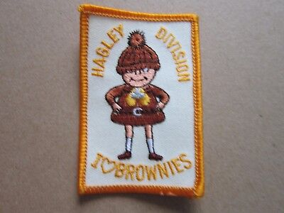 Hagley Brownies Girl Guides Cloth Patch Badge (L4K)