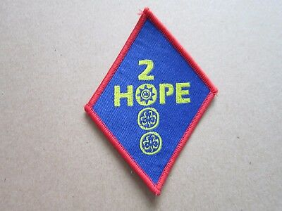 Hope 2000 Girl Guides Cloth Patch Badge (L4K)