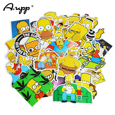 The Homer Simpson New Cartoon 25 pcs PVC Toys Cool Stickers, USA Free Shipping