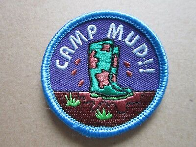 Camp Mud!! Girl Guides Cloth Patch Badge (L4K)
