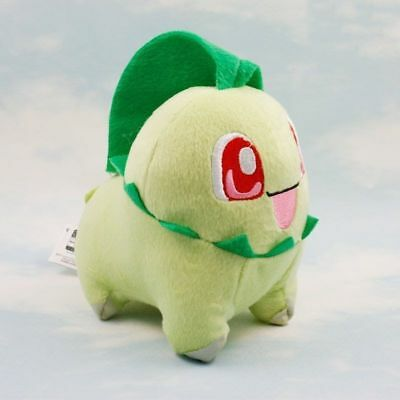 "Cartoon 5.5"" 14CM Chikorita Pokemon Cute Soft Plush Toy Doll Kids Gift New"