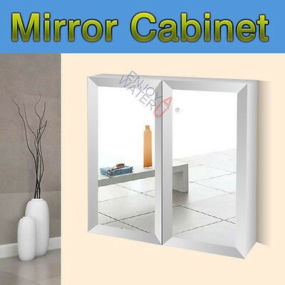 750 X 720 X150mm Mirror Cabinet Bevel Edge Shaving Medicine Bathroom Vanity NEW