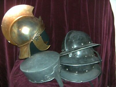 Mens Theatrical Military Period Helmets X 5 Costume Theatre Stage Show Hats