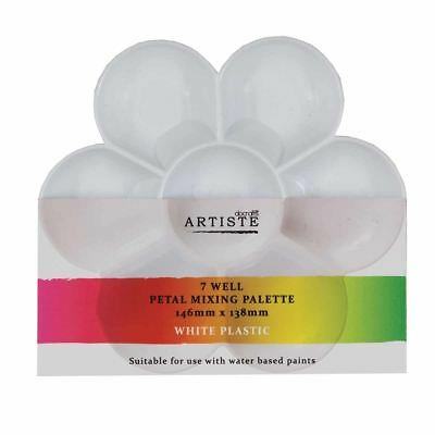 Artiste Paint Mixing Palette White - Medium - Petal Shape