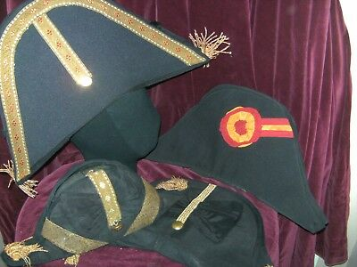 MENS THEATRICAL cocked hats by homburgs  5 PERIOD THEATRE STAGE COSTUME