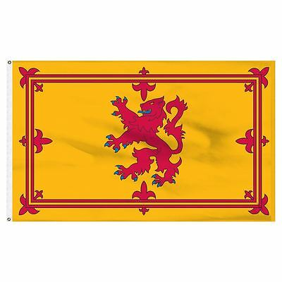 Scotland Flag Rampant Red Lion Large 5ft x 3ft Scottish