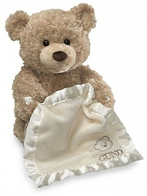 GUND 11.5-Inch Peek-A-Boo Bear (says 10 different phrases to your baby)