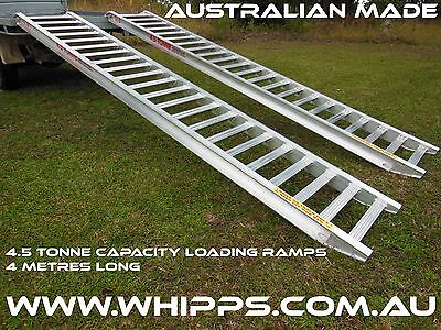4.5 Tonne Capacity Machinery Loading Ramps 4 Metres x 500mm track width